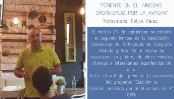 Nuestro profesor Felipe Pérez participa como ponente en el Innobar organizado por la AVPGHA