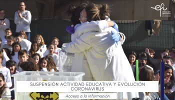 Suspensión actividad educativa situación y evolución Coronavirus