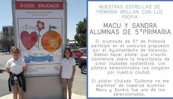 """El póster de nuestras alumnas Macu y Sandra seleccionado para el concurso del Ayuntamiento: """"València en convivència"""""""