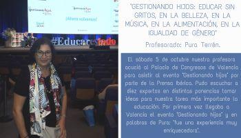 """Nuestra profesora Pura asiste al curso de formación: """"Gestionando hijos"""""""