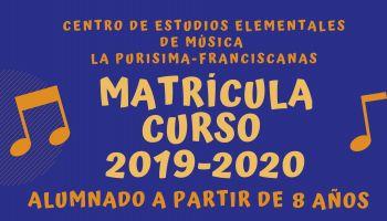 Centro de Estudios Elementales de Música: Matricula curso 2019-20 - Estudios dirigidos al alumnado A PARTIR DE 3° DE PRIMARIA