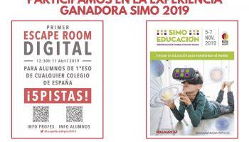 SIMO 2019 Participamos en la experiencia ganadora de los VII Premios a la Innovación Educativa y Experiencias Docentes Innovadoras