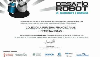 """Semifinalistas en el concurso """"Desafío Robot"""""""