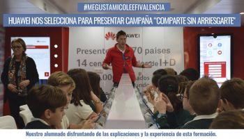 """El #SmartBus de Huawei selecciona nuestro Colegio para presentar la campaña """"Comparte sin arriesgarte"""""""