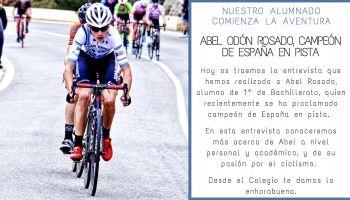 Nuestro alumno, Abel Rosado, se proclama campeón de España en pista