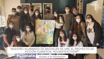 Nuestro alumnado de Bachiller se une al proyecto ACCIÓN CLIMÁTICA #climateactionP