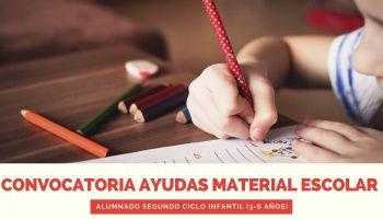 Convocatoria ayudas material escolar alumnado segundo ciclo infantil (3-6 años)