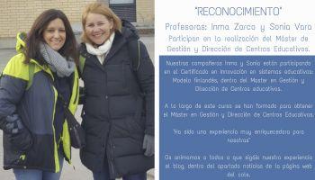 Nuestras compañeras Inma y Sonia participan en el Máster de Gestión y Dirección de Centros Educativos