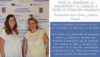 """Nuestras profesoras Inma y Rosana asisten al curso de formación: """"Apoyo al aprendizaje, la comunicación y el lenguaje, a través de Rimas con Movimiento"""""""