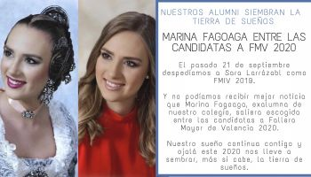 Nuestra exalumna Marina Fagoaga Benedito entre las candidatas a Fallera Mayor de Valencia