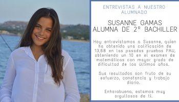 Entrevista a nuestra alumna, Susanne Gamas, por su excelente resultado en las pruebas PAU