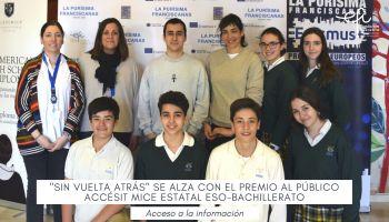 Sin vuelta atrás, ha conseguido alzarse con el Premio del Público ACCÉSIT MICE ESTATAL ESO-BACHILLERATO en la MICE.