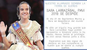 Sara Larrazábal, FMIV 2019, se despide junto a Marina Civera, FMV 2019, en la Fonteta